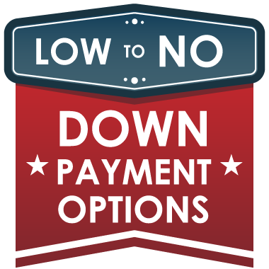 Low to NO Down Payment Options